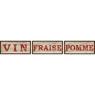PTM Images 6-1418 French Kitchen Signs (Set of 3)