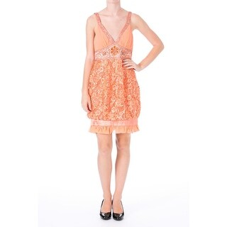 Sue Wong Womens Lace Embellished Cocktail Dress - 6