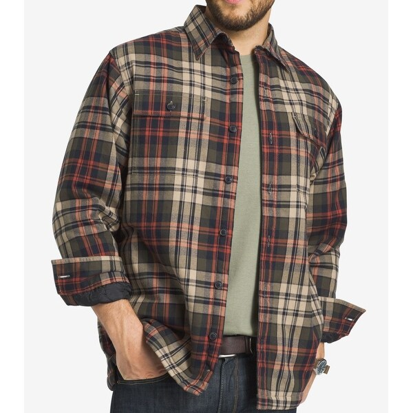 38a5af9996 Shop G.H. Bass & Co. NEW Brown Men XL Plaid Flannel Button Down Shirt Jacket  - Free Shipping On Orders Over $45 - Overstock - 20003253