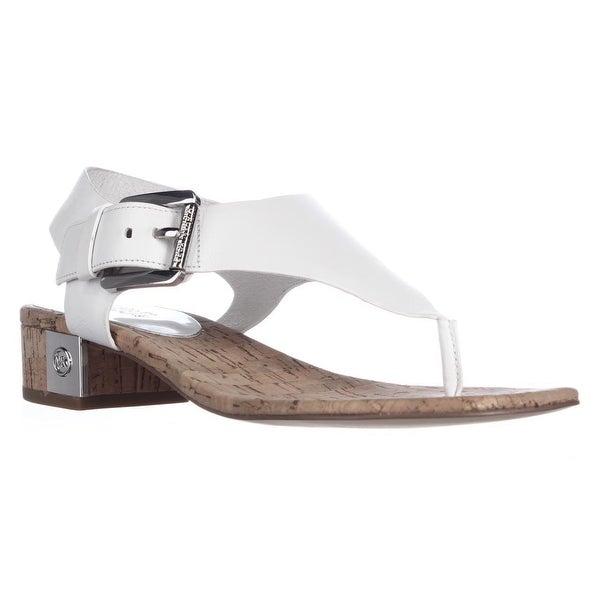 MICHAEL Michael Kors London Thong Lasered Sandals, Optic White