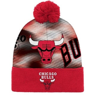 Chicago Bulls Sublimated Cuffed Knit Hat with Pom
