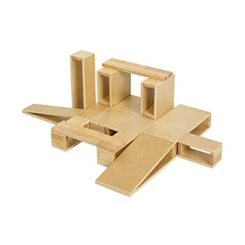 Offex Wooden Hollow Blocks, 18-Piece Set