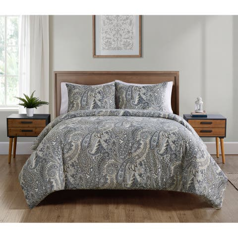 Palila Paisley Grey Comforter Set