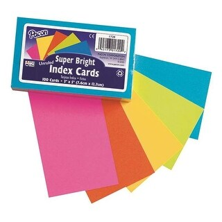 Pacon PAC1720BN 3 x 5 in. Super Bright Index Cards - Pack of 6