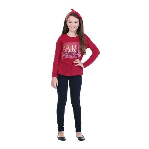 Pulla Bulla Big Girl Long Sleeve Graphic Tee Shirt