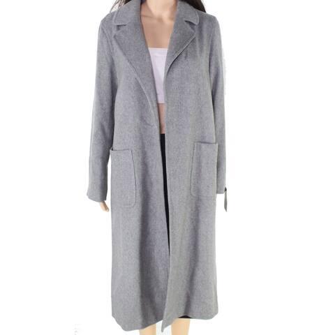 Helene London Women's Gray Size Small S Longline Coat Wool Blend