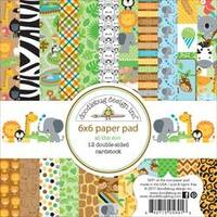 """At The Zoo - Doodlebug Double-Sided Paper Pad 6""""X6"""" 24/Pkg"""