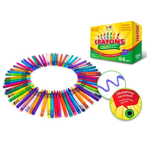 Multicraft Crayons w/Sharpener 64pc