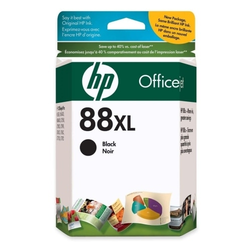 HP 88XL High Yield Black Original Ink Cartridge (C9396AN) (Single Pack)
