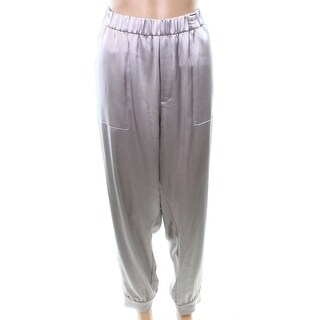 Polo Ralph Lauren NEW Silver Taupe Women's Size XL Cropped Pants