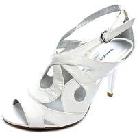 Bandolino Janeta Women  Open Toe Synthetic White Sandals