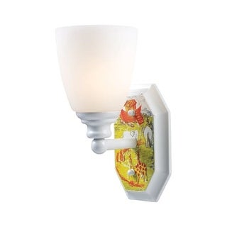 Landmark Lighting 60070-1 Kids / Youth 3 Light Up Lighting Wall Sconce with Noah's Ark Design from the Kidshine Collection