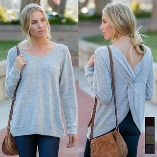Plush Twisted Back Sweater