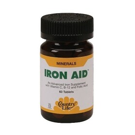 Country Life Vitamins Iron-Aid (60 Tablets)