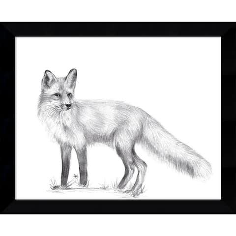 Porch & Den Melissa Wang Wildlife Trail I Fox Framed Art Print