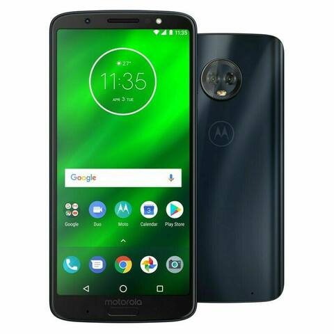 Motorola Moto G 6th Generation 32GB Black Unlocked Smartphone