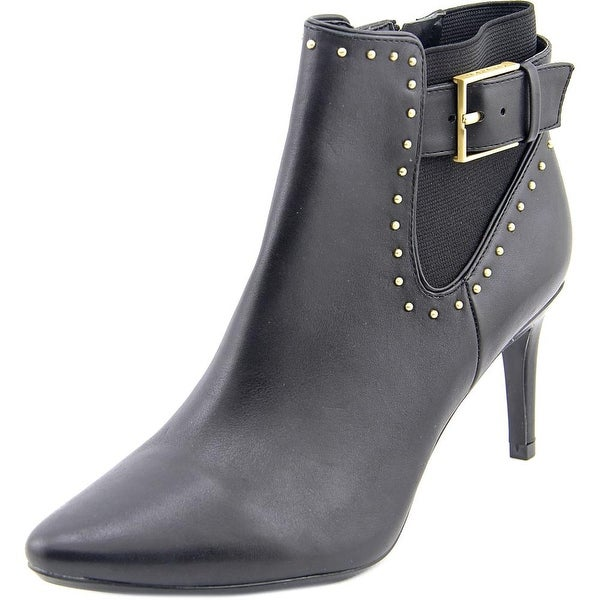 Calvin Klein Jozie Women Pointed Toe Leather Black Bootie