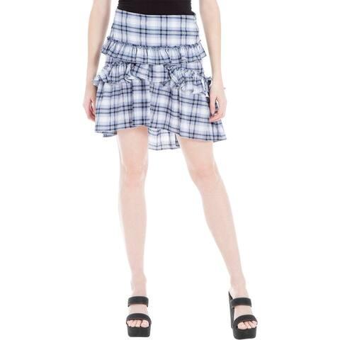 Max Studio London Womens A-Line Skirt Woven Ruffled