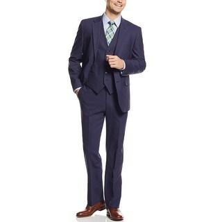 Tommy Hilfiger Upton Trim Fit Light Indigo 3pc Suit 44 Regular Pants 38W