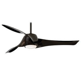 "MinkaAire Artemis 3 Blade 58"" Ceiling Fan - Light, Wall Control and Blades Included"