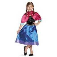Girls Frozen Traveling Anna Classic Costume