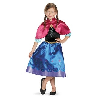 Girls Frozen Traveling Anna Classic Costume