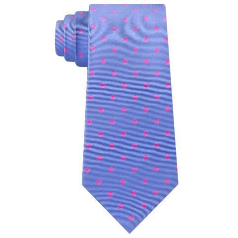 Tommy Hilfiger Men's Bright Preppy Dot Tie Dark Pink Size Regular