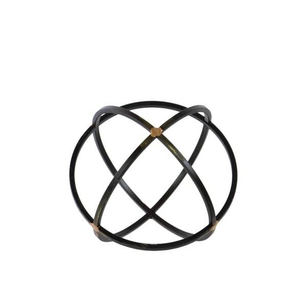 Shop Metal Orb Dyson Sphere Design 3 Circles Black Medium