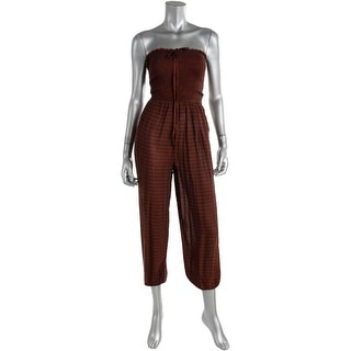 Free People Womens Pull On Smocked Jumpsuit - XS