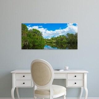 Easy Art Prints Panoramic Image 'Reflection of trees, Oscar Scherer Park, Nokomis, SarasotCounty, Florida' Canvas Art