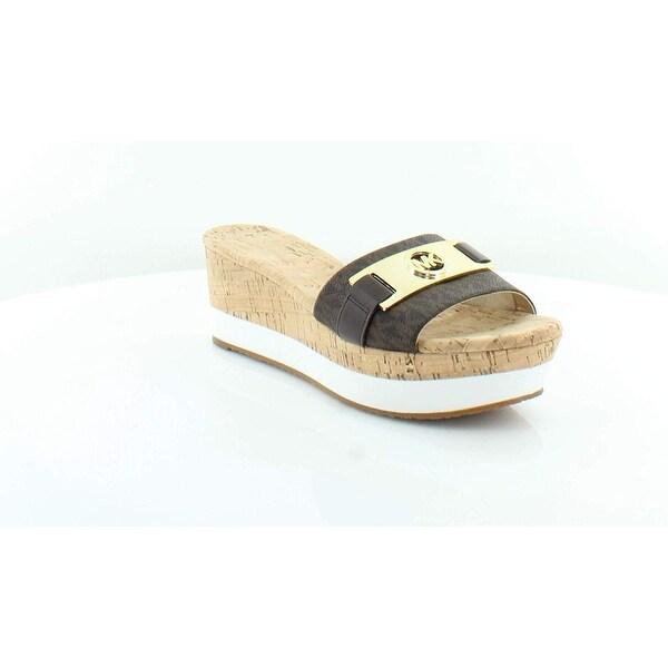 034cb108b7 Shop MICHAEL Michael Kors Warren Platform Wedge Sandal Brown - 9 ...