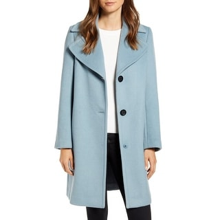 Link to Sam Edelman Women's Coat Blue Size 12 Single Breasted Wool Blend Similar Items in Women's Outerwear