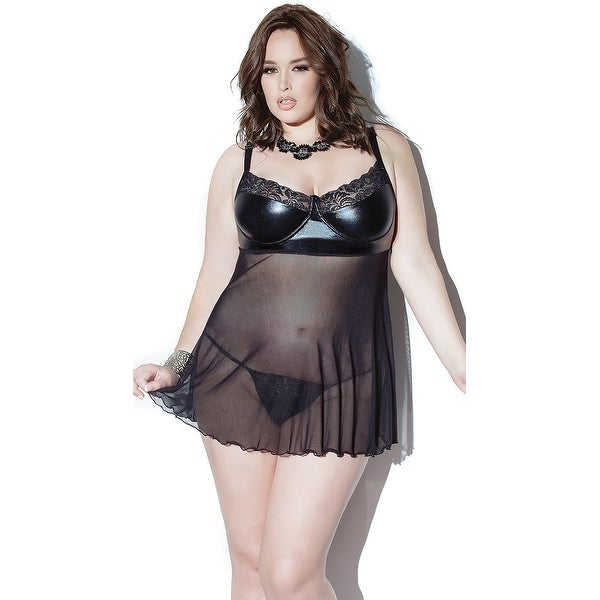454c8aac1 Shop Plus Size Darque Babydoll And G-string