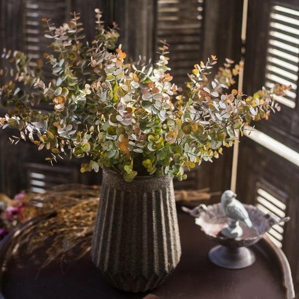 "RusticReach Eucalyptus Plant Stem Autumn Green 26"" Tall"