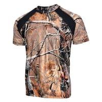 Mens Camo 100% Polyester Hunting Zone Shirt Short Sleeve HS2