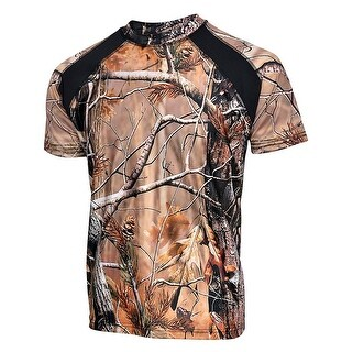 Mens Camo 100% Polyester Hunting Zone Shirt Short Sleeve HS2