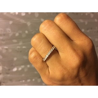 1.40 cttw. 14K Rose Gold Round Shared Prong Diamond Eternity Ring