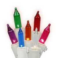 Set of 50 Multi-Color LED Mini Christmas Lights - White Wire