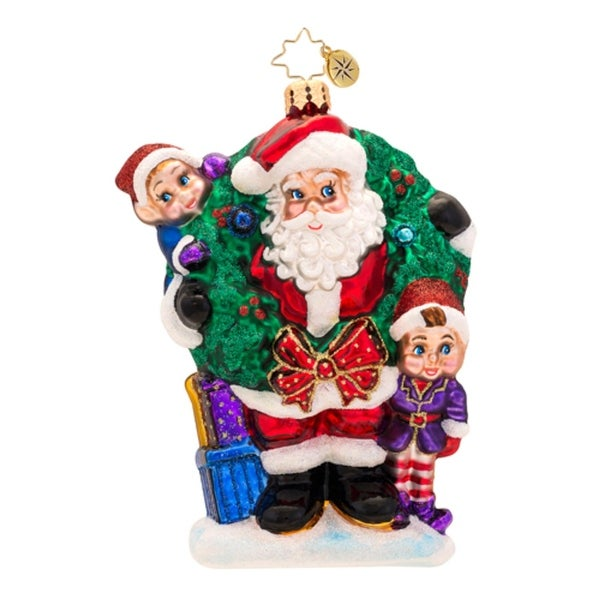 Christopher Radko Glass Bring In The Joy Bring In The Fun Santa Christmas Ornament #1017323 - RED