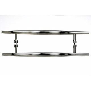 Top Knobs M853-12pair Nouveau Collection 12 Inch Center to Center Brushed Satin Nickel Brook Back to Back Door Pull Pair
