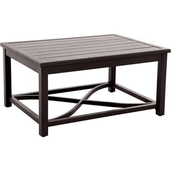 Post Leg Slats Outdoor Coffee Table Brown 44 X 32 22 Free Shipping Today 21990846