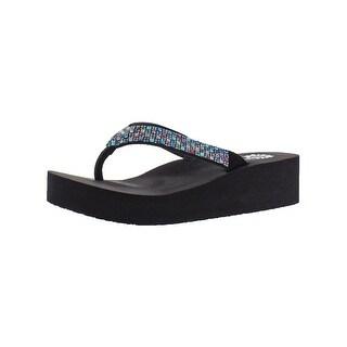 Yellow Box Womens Scalia Flip-Flops Leather Summer