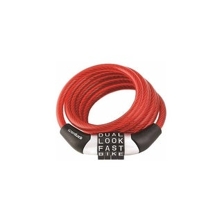 Wordlock CL-455-RD Wordlock Combination Non-Resettable Cable Lock (Red) - Non-Resettable - 4-digit Combination Lock - Red,