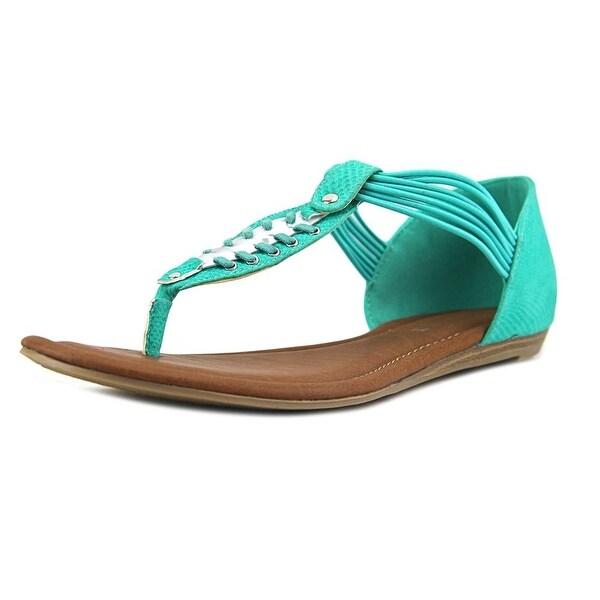 Rampage Decarte Women Open Toe Canvas Green Thong Sandal