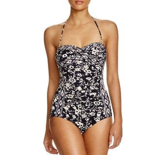 Robin Piccone Womens Strapless Printed One-Piece Swimsuit - 8