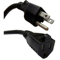 Power Extension Cord, Black, NEMA 5-15P to NEMA 5-15R, 13 Amp, 16 AWG, 6 foot