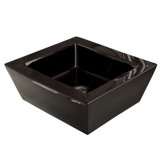 "DecoLav 1432 18"" Square Ceramic Vessel Bathroom Sink"