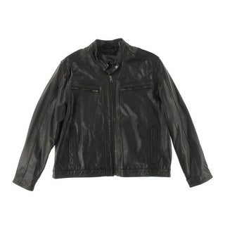 Cole Haan Mens Lined Leather Coat - XXL