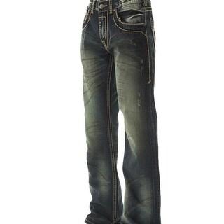 B. Tuff Western Denim Jeans Mens Outlaw Bleach Dark Wash MOUTLW