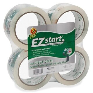 "Duck 280068 EZ Start Crystal Clear Packaging Tape, 1.88"" W x 54.60 yd"
